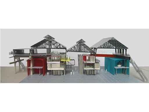 Réhabilitation d'anciens ateliers des chantiers navals en un centre patrimonial actif et ouvert à la ville.