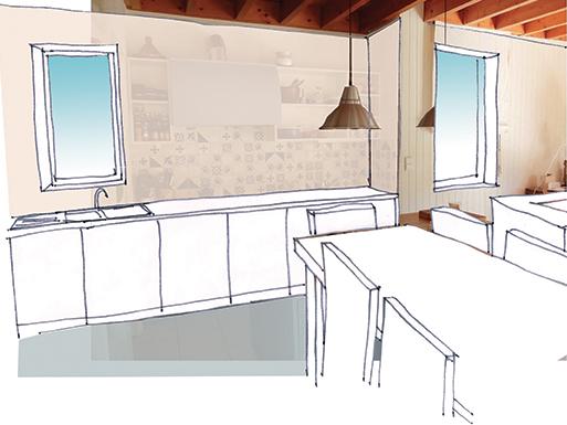 Aménagement des espaces intérieurs d'une maison d'architecte