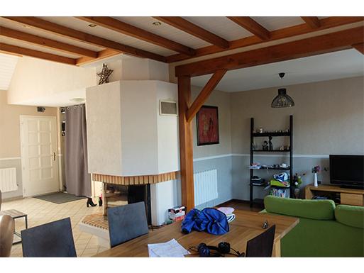 Aménagement des pièces de vie et mezzanine d'une maison à Nantes