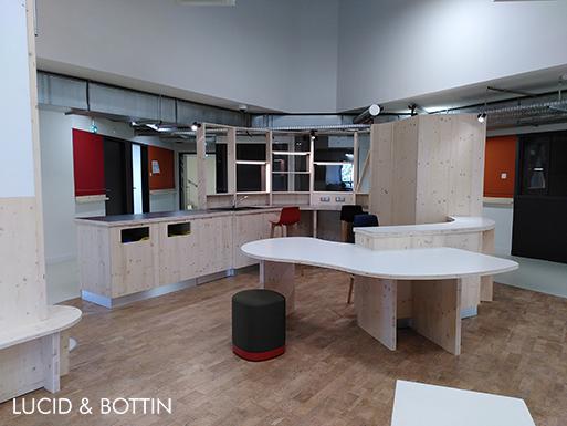 Ecole de commerce Audencia Tripode architecture intérieure